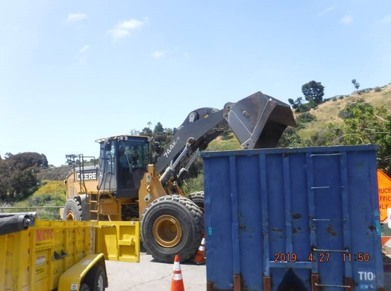 Photo of front loader at work